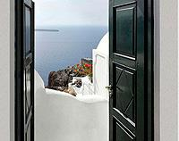 Fira Open Door - Canvas Print