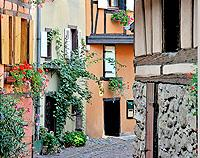 Eguisheim, Alsace, France - Canvas Print