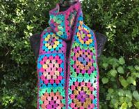 Retro Granny Square Scarf - Louisa
