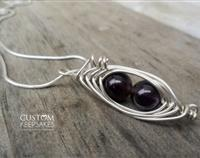 Peapod with Amethyst and Sterling Silver Wire