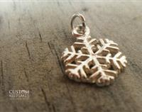 13mm Sterling Silver Snowflake
