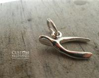 Wish Me Good Luck – Sterling Silver Wishbone Charm