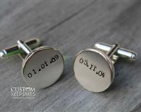 Unforgettable Dates – Sterling Silver Cufflinks