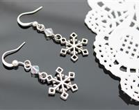 Silver Snowflake Earrings 1