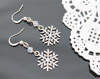 Silver Snowflake Earrings 2