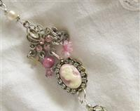 Assembled necklace - Pink and Pearls