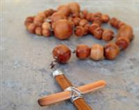 Recycled Native New Zealand Wooden Catholic Rosary - Handmade Rimu Beads with Sterling Silver