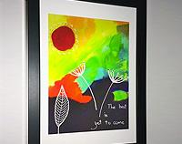 The Best is Yet to Come - Framed print