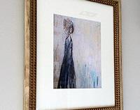 Blue Lady Framed Print