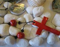 Beautiful Red Ceramic Cross