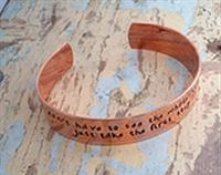 Copper Quote cuff bracelet