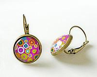 Funky Earrings - Pink Dotty Spotty