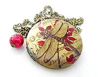 Dragonfly's Delight - Gorgeous brass locket with divine detail