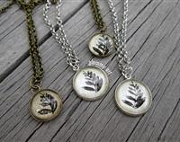 Kiwiana Silver Fern necklace