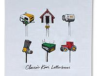 Classic Kiwi Letterboxes - Tea Towels