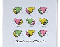 Kiwis are Allsorts - Tea Towel