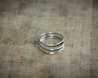 Set of 3 Sterling Silver Thin Stacking Rings