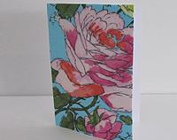 Floral Fabric Covered Card