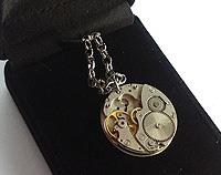 Altered timepiece -  watch movement silver-plated decorative chain