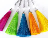 Silk Tassel necklace - Vibrant - Choose your colour