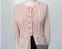 Cable cardigan - cream