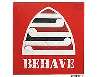 Red Behave Print by Weston Frizzell