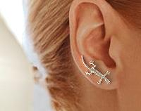 EarWings, Ear Climbers, Minimilist Earrings, TW18