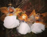 Christmas Angels - set of 3 paper flowers
