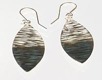 Two Tone Textured Earrings