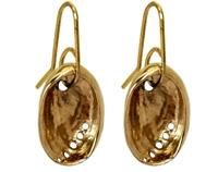 Gold Baby Paua Earrings