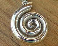 Silver New Zealand Koru Pendant - symbolic of new beginnings