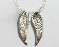 Pure silver Angel wings necklace