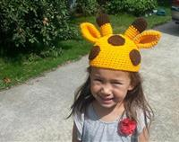 Giraffe Crochet Child's Hat
