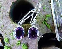 Silver Amethyst Earrings | The Power of Purple