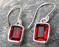 Silver Garnet Earrings