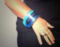 Tui Feather Cuff Bracelet - Recycled Leather