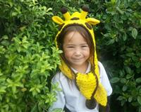 Crochet Giraffe Hood with scarf