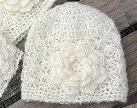 Cream Beanie in Baby, Toddler or Adult size