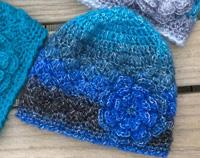 Blue Beanie in Baby, Toddler or Adult size