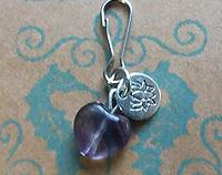 Cat Fluorite Charm - collar pendant to reduce stress