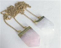 Gemstone Point Necklace your choice of stone