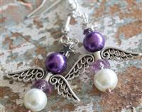 Angel Earrings Purple