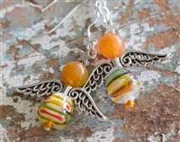 Angel Earrings Amber