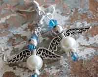 Angel Earrings - Pearl