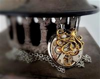 Funky Steampunk Inspired Pendant - The Octopus Invader