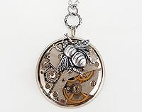 Funky Steampunk Inspired Pendant - The Bumble Bee
