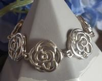 Sterling silver flower bracelet, made in NZ