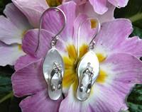 White shell jandal earrings, New Zealand iconic earrings