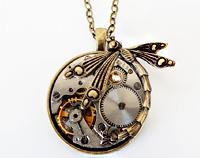 Art Deco Dragonfly Watch Pendant - Timeless Relic