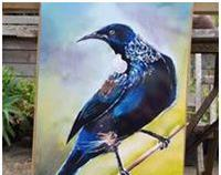 New Zealand Tui Bird - Garden Wall Art Panel
